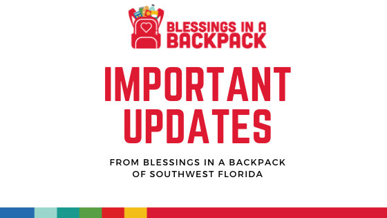 Important Updates from Blessings in a Backpack SWFL