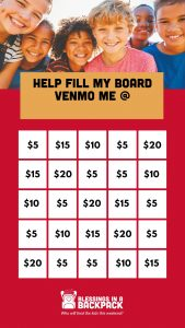 Bingo Board for Instagram Story Fundraiser