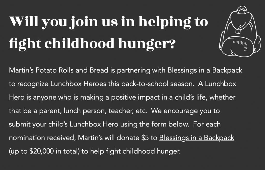 Martin's Lunchbox Hero campaign